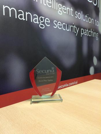 Best presales award Secunia naar Arnold Kok!
